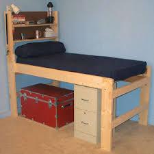 Dorm Bed Frame Platform Beds Solid Wood All Sizes High Riser Bed 1000 Lbs Wt