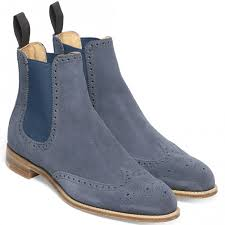 womens navy ankle boots uk cheaney navy suede chelsea boot made in