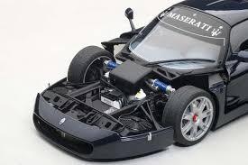 maserati road autoart highly detailed die cast model maserati mc12 blue metallic