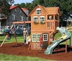 Wooden Backyard Playsets Backyard Playground Slides U2013 Mobiledave Me
