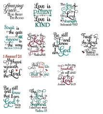 on sale 12 bible scripture embroidery designs machine
