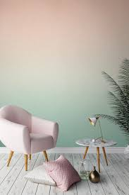 Wallpapers Interior Design by Pink U0026 Green Geometric Wall Murals Pink Marble Copper Accents