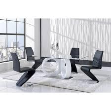 Dining Chair Deals Global Modern Black Polyurethane Dining Chair Black Faux