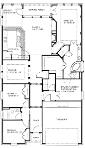 1 Story House Floor Plans First Floor Plan Of Country Narrow Lot House 46427 2 Story Plans