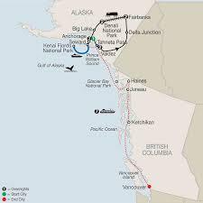 Alaska Railroad Map by Alaska U0026 New England Cruises Vacation Packages Globus
