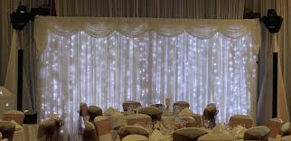 wedding backdrop hire northtonshire white wedding backdrop lights wedding dj hire