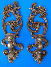 home interiors sconces vtg shabby chic homco syroco wall arm sconce flowers wall
