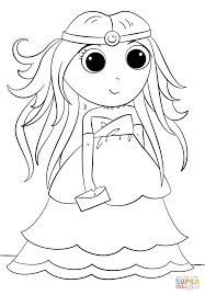 anime princess coloring page free printable coloring pages