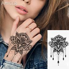 large flower tattoo designs online get cheap large flower tattoos aliexpress com alibaba group