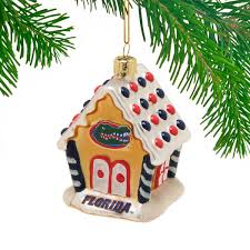 gators blown glass gingerbread house ornament