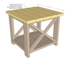 Free Wood Furniture Plans Download by Ana White Rustic X End Table Diy Projects