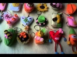 cara membuat gantungan kunci dari kain flanel bentuk kue souvenir dr kain flanel gantungan munci hp youtube