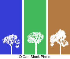 drawing of winter tree banner banners with tree green and