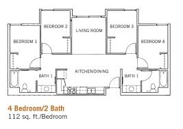 4 bed floor plans floor plan without bedrooms bathlaundry tiny plan bedroom laundry