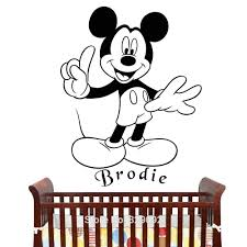 online buy wholesale classic mickey mouse from china free shipping personalized mickey mouse vinyl removable wall sticker kids decal home decor