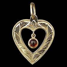 Pendant Engraving Mozambique Garnet Heart Pendant Armstrong Engraving U0026 Custom Jewelry