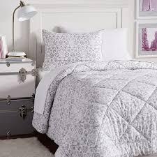 light gray twin comforter decorator damask value comforter set pbteen