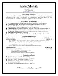 Sample Resume For Office Administrator by Professional Manager Resume Medical Office Manager Sample Resume