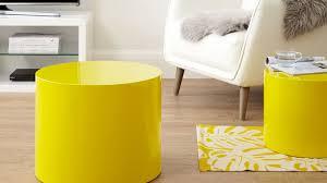 Yellow Side Table Uk Mustard Yellow Gloss Pebble Side Tables Set Of 2 Uk