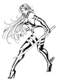 coloring pages psylocke by tsuzukikun on deviantart