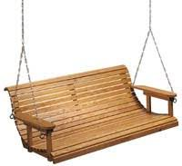 wooden porch swings and things sallygoodin