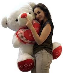 big valentines day teddy bears valentines day teddy soft white oversized