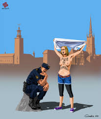 ad police satirical illustrations of police officers around the world