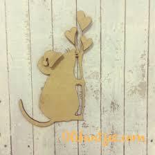 christmas mouse mdf blank craft set u2013 olifantjie
