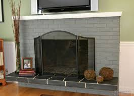 and grey brick fireplaces
