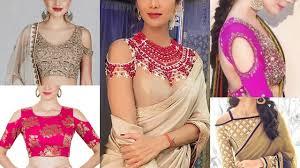 beautiful blouse designs trendy cold shoulder blouse