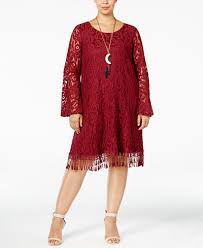 ing plus size lace fringe trim dress dresses plus sizes macy u0027s