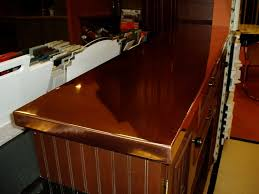 kitchen high polished copper raised bar countertop copper