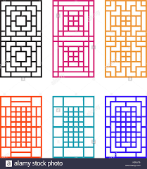 japanese ornament for door window wall and fence vector stock