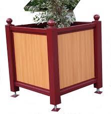 cache conteneur bois bac orangerie acier plaisir habillage bois trespa fleurissement