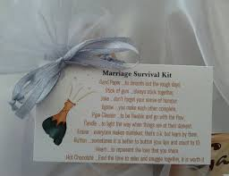 wedding gift jokes bag of bits marriage survival kit groom or