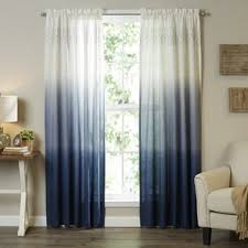 livingroom curtain blue curtains drapes you ll wayfair