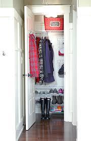 Shelves For Shoes by Organized Coat Closet I Like The Wire Shoe Shelves Top Shelf