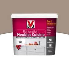 peinture renovation cuisine v33 peinture de rénovation meubles cuisine v33 taupe satiné 0 75l