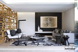 modern living room interior at u shaped house design by saota and