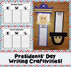2 writing activities u0026 crafts for presidents u0027 day with freebies