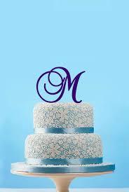 m cake topper monogram initial cake topper custom monogram cake topper letter m