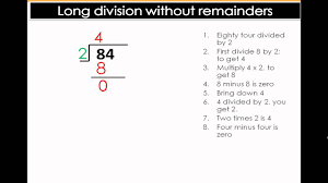 long division with no remainders easy math division lesson 5th
