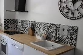 cuisine carreau ciment étourdissant carrelage credence cuisine design avec cradence