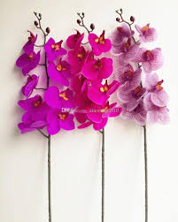 orchid flower real touch orchids large size pu orchid flower artificial flowers