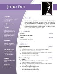 word document resume template free 100 images doc 600776