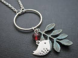 bird necklace silver images Silver bird patina brass leaf circle necklace vamps jewelry jpg
