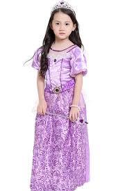 purple tangled princess rapunzel fancy dress kids cosplay costume