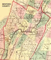 County Map Pennsylvania by Ancestor Tracks Bedford County Landowner Map 1861