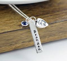 Baby Name Jewelry Baby Name Necklace Mommy Necklace Child Name Baby Birth