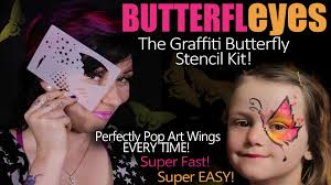 butterfleyes graffiti butterfly stencil face painting kit and